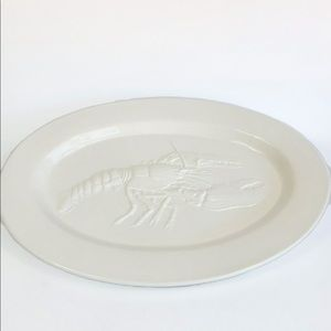 WILLIAM SONOMA Made in Italy White Lobster Tray